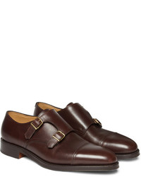 Double monks en cuir bruns foncés John Lobb