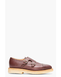 Double monks en cuir marron Mark McNairy