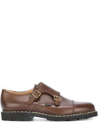 Double monks en cuir marron Paraboot