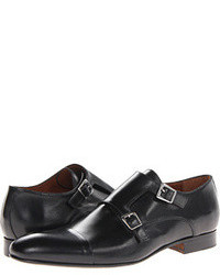 Double monks en cuir noirs