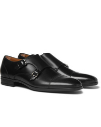 Double monks en cuir noirs Hugo Boss