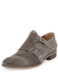 Double monks en daim gris