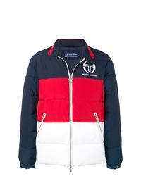 Doudoune blanc et rouge et bleu marine Sergio Tacchini