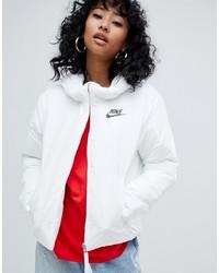 Doudoune blanche Nike