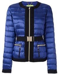 Doudoune bleue Versace