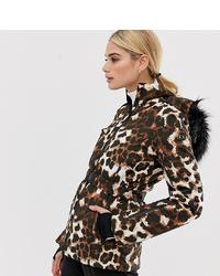 Doudoune imprimée léopard marron ASOS 4505