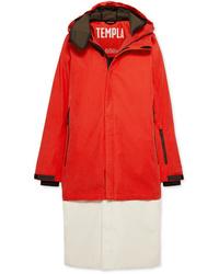Doudoune longue rouge TEMPLA