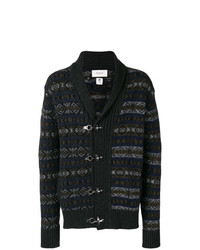 Duffel-cardigan en jacquard bleu marine Pringle Of Scotland