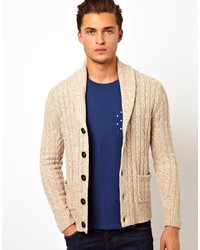 Duffel-cardigan en tricot beige Vito