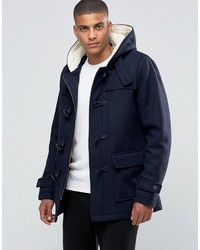 Duffel-coat bleu marine Selected