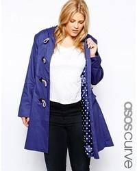 Duffel-coat bleu Asos