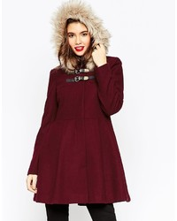 Duffel-coat bordeaux Asos