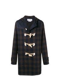 Duffel-coat écossais bleu marine