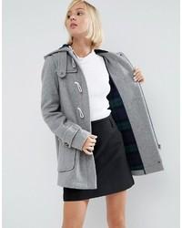 Duffel-coat gris Asos