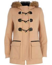 Duffel-coat marron clair