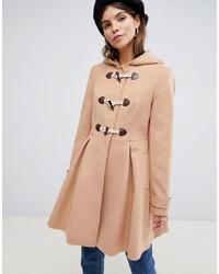 Duffel-coat marron clair ASOS DESIGN