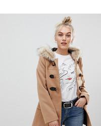 Duffel-coat marron clair Asos Petite