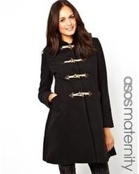 Duffel-coat noir Asos Maternity