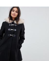 Duffel-coat noir Asos Petite
