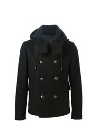 Duffel-coat noir Dolce & Gabbana