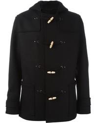 Duffel-coat noir Lanvin