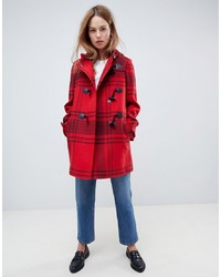 Duffel-coat rouge ASOS DESIGN