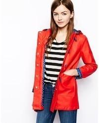 Duffel-coat rouge Asos