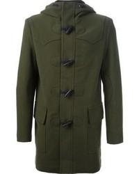 Duffel-coat vert foncé