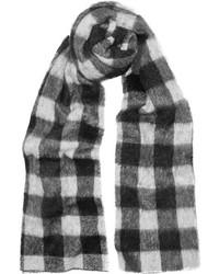 Écharpe à carreaux blanche et noire Balenciaga