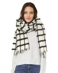 Acheter écharpe blanche et noire femmes  choisir écharpes blanches ... 5aa7a96da98