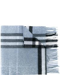 Écharpe à carreaux bleu clair Burberry