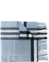 Écharpe à carreaux bleue claire Burberry