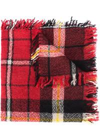 Écharpe à carreaux bordeaux Isabel Marant