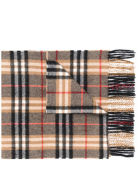 Écharpe à carreaux brune claire Burberry