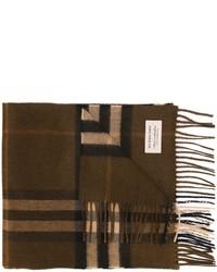 Écharpe à carreaux brune foncée Burberry