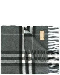 Écharpe à carreaux gris foncé Burberry