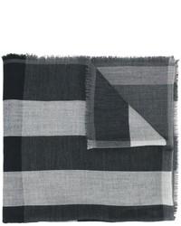 Écharpe à carreaux grise foncée Burberry