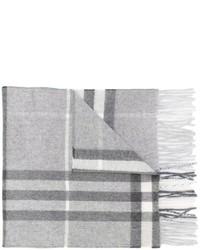 Écharpe à carreaux grise Burberry