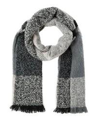 Écharpe à carreaux grise Even&Odd
