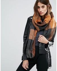 Écharpe à carreaux marron clair Vero Moda