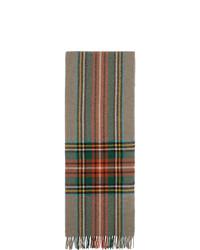 Écharpe à carreaux multicolore