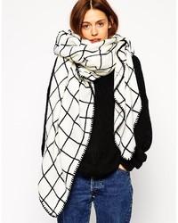 6daacc2cd34 Acheter écharpe à carreaux noire et blanche femmes  choisir écharpes ...