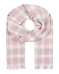 Écharpe à carreaux rose Ralph Lauren
