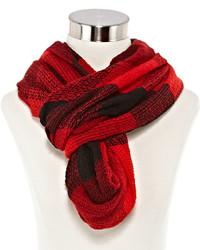 Écharpe à carreaux rouge