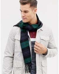 Écharpe à carreaux vert foncé Burton Menswear