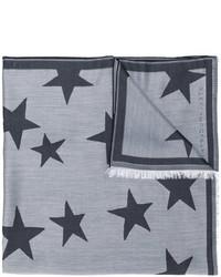 Écharpe à étoiles grise Stella McCartney