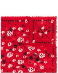 Écharpe à étoiles rouge Alexander McQueen