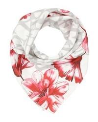 Écharpe à fleurs blanche GUESS