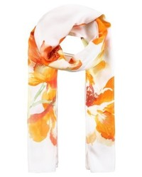 Écharpe à fleurs blanche Ralph Lauren