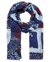 Écharpe à fleurs bleue marine Tommy Hilfiger